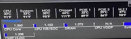 HARDWRE MONTITOR 温度確認