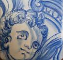 天使の顔の絵タイル