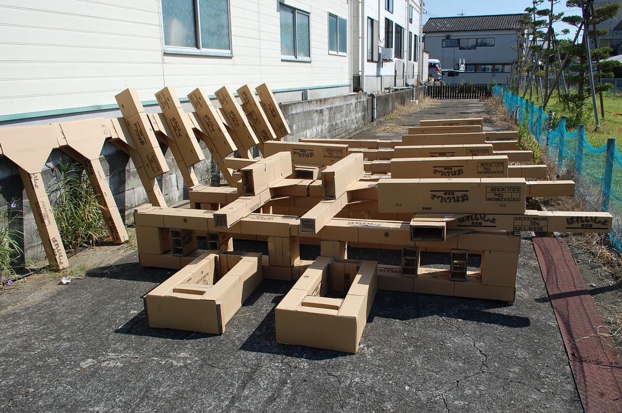 炭水車の台枠と構造材。