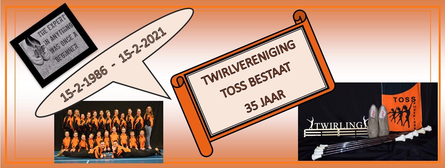 35 jaar Twirlvereniging TOSS.
