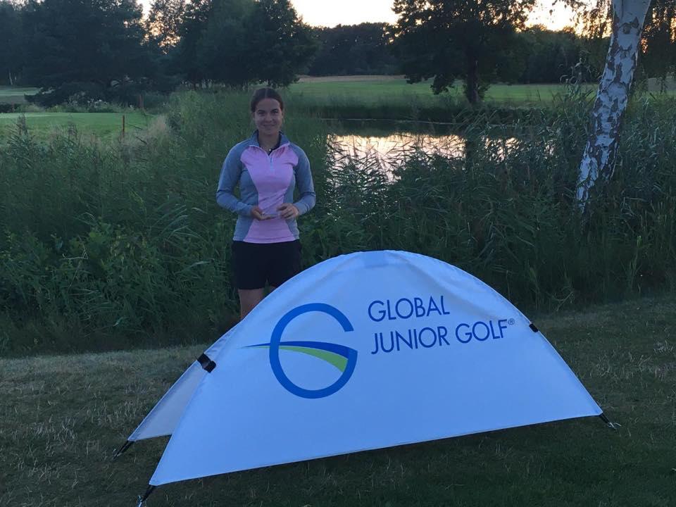 Goed resultaat Rosanne Boere tijdens de Global Junior Golf in Duitsland.
