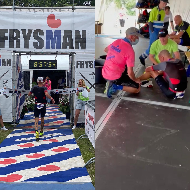 Met een vreselijk slecht gevoel en ziek naar een Persoonlijk Record op de hele triathlon: Niels Kerdel.