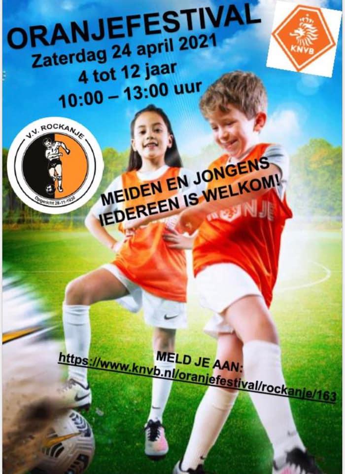 Oranjefestival voetbalvereniging Rockanje.