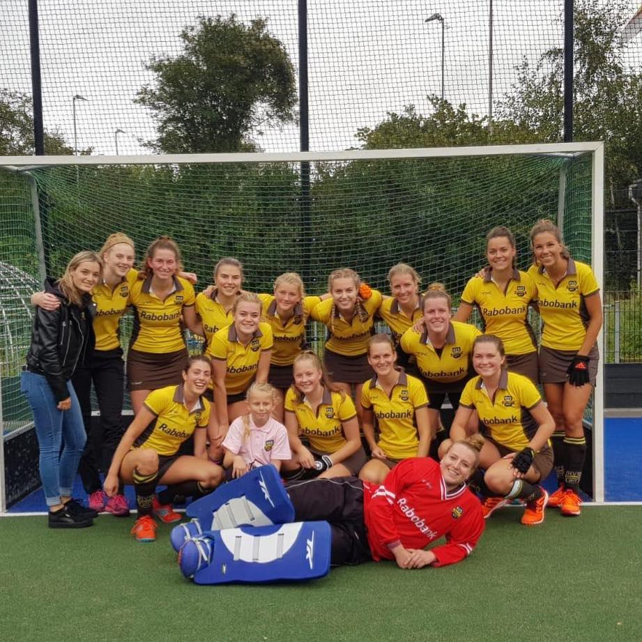 HVS Dames 1 verliest nipt van Bleiswijk 1.