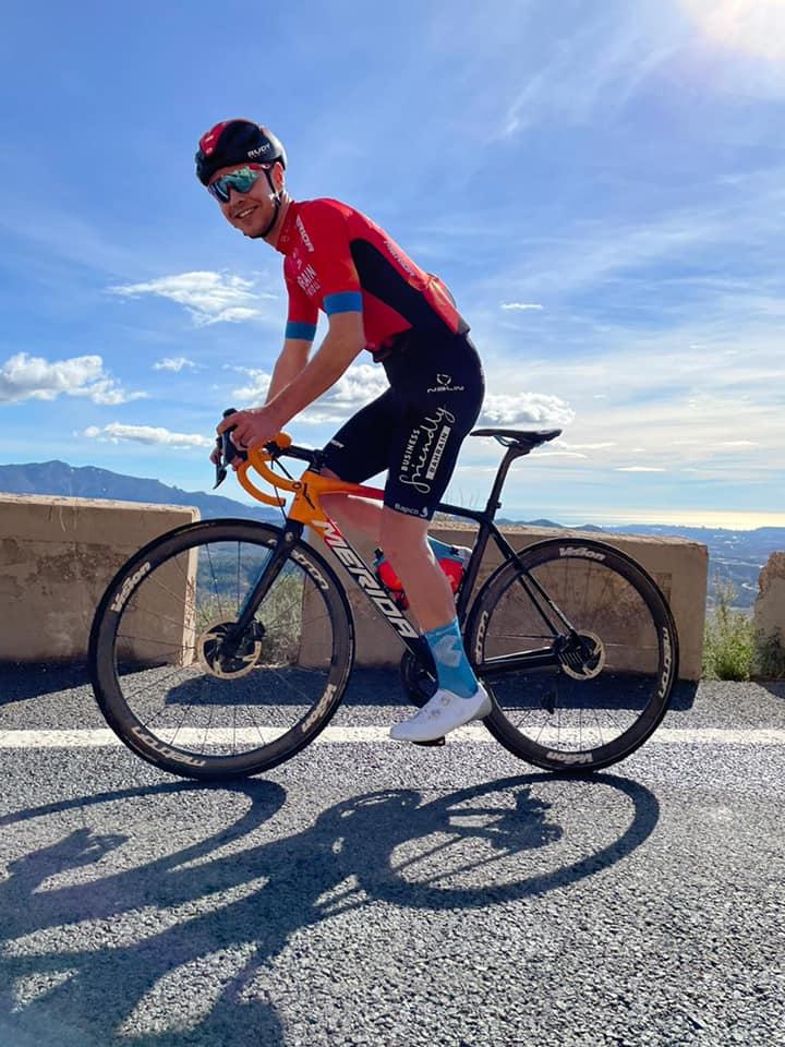 Kevin Inkelaar in Spanje aan de start.