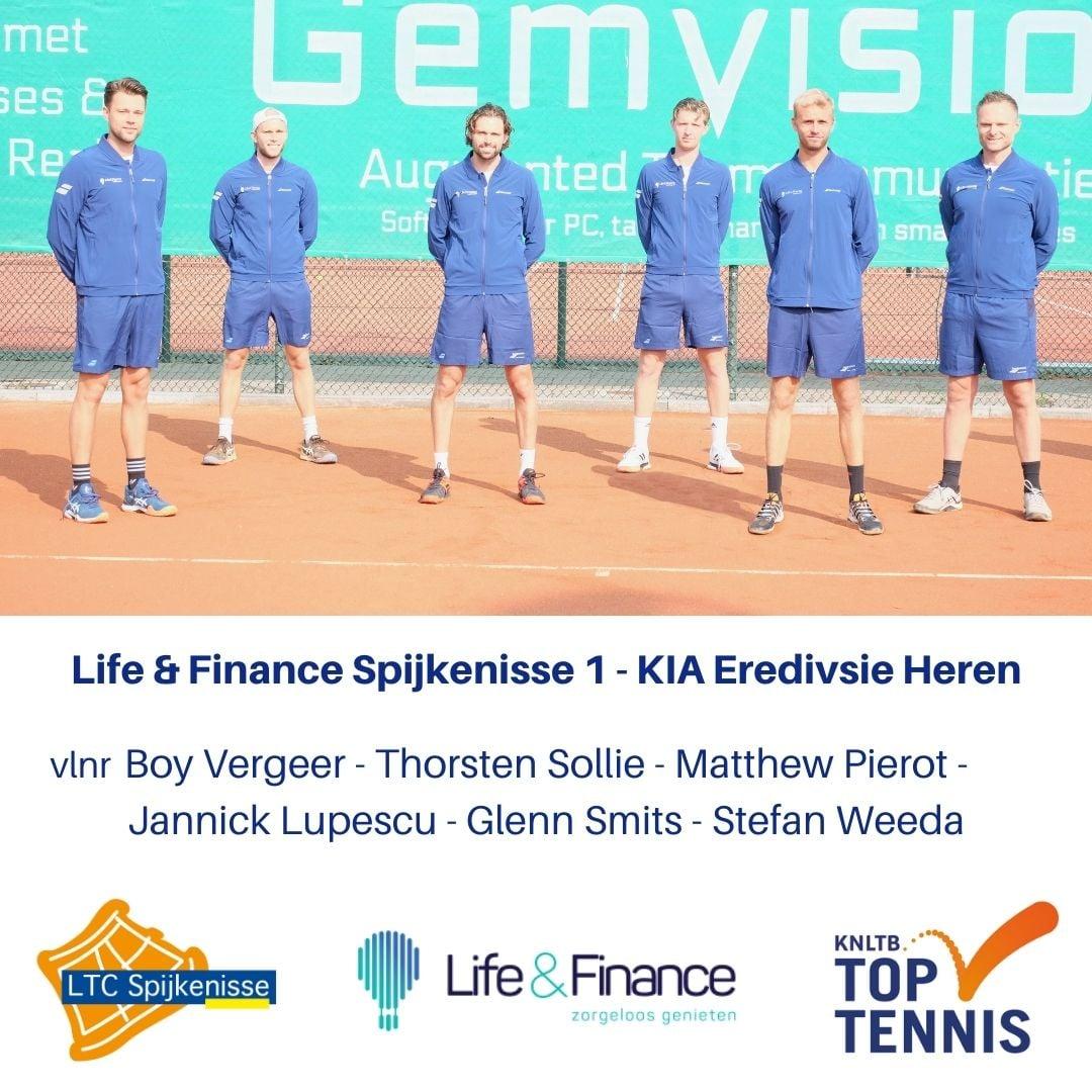 LTC Spijkenisse verliest en verspeelt koppositie Eredivisie Tennis.