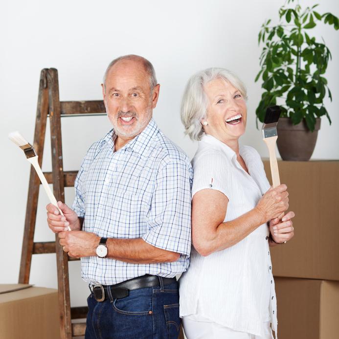 Senioren-Service  ( Wir steigen für Sie auf die Leiter)