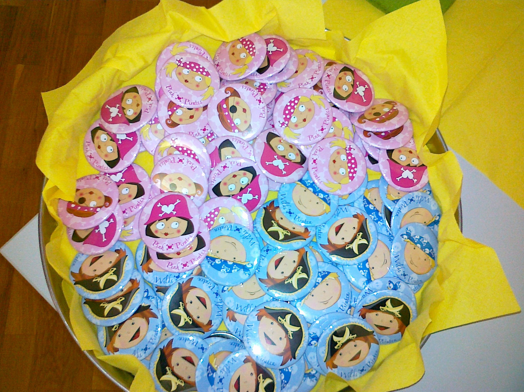 Pink Pirates Buttons