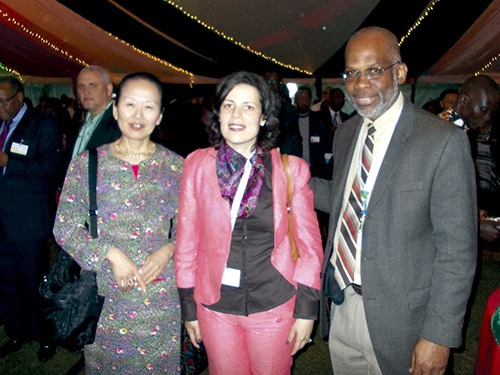 With delegates of UNEA
