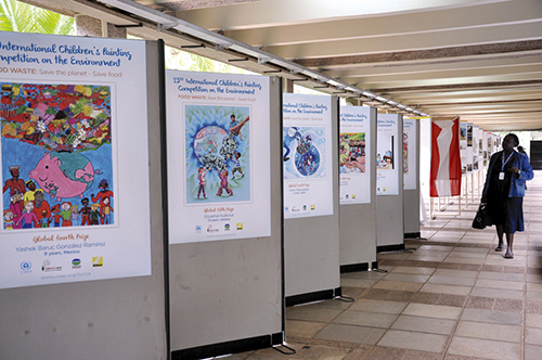 Exhibition at UN lobby