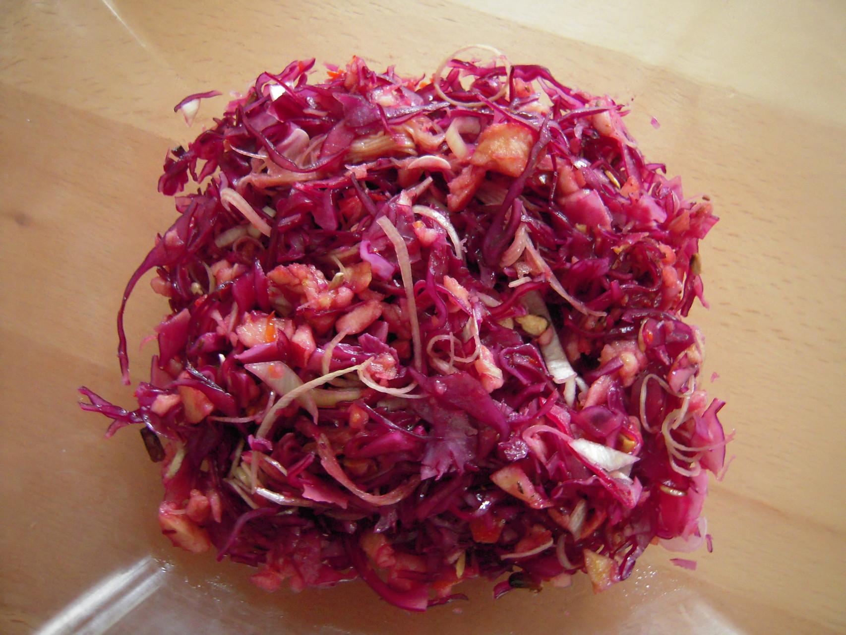 Rotkraut-Apfel-Salat