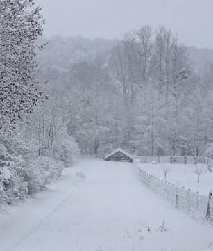 Lavoir St Clément sous la neige