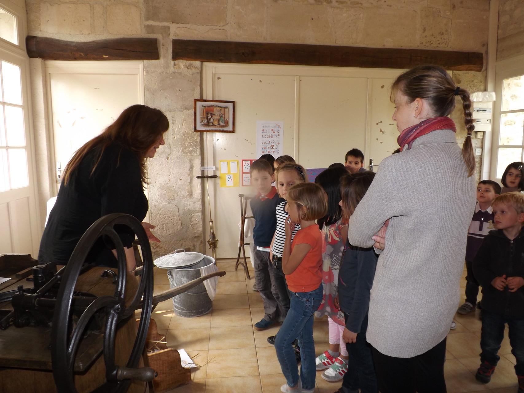 visite des élèves de notre exposition