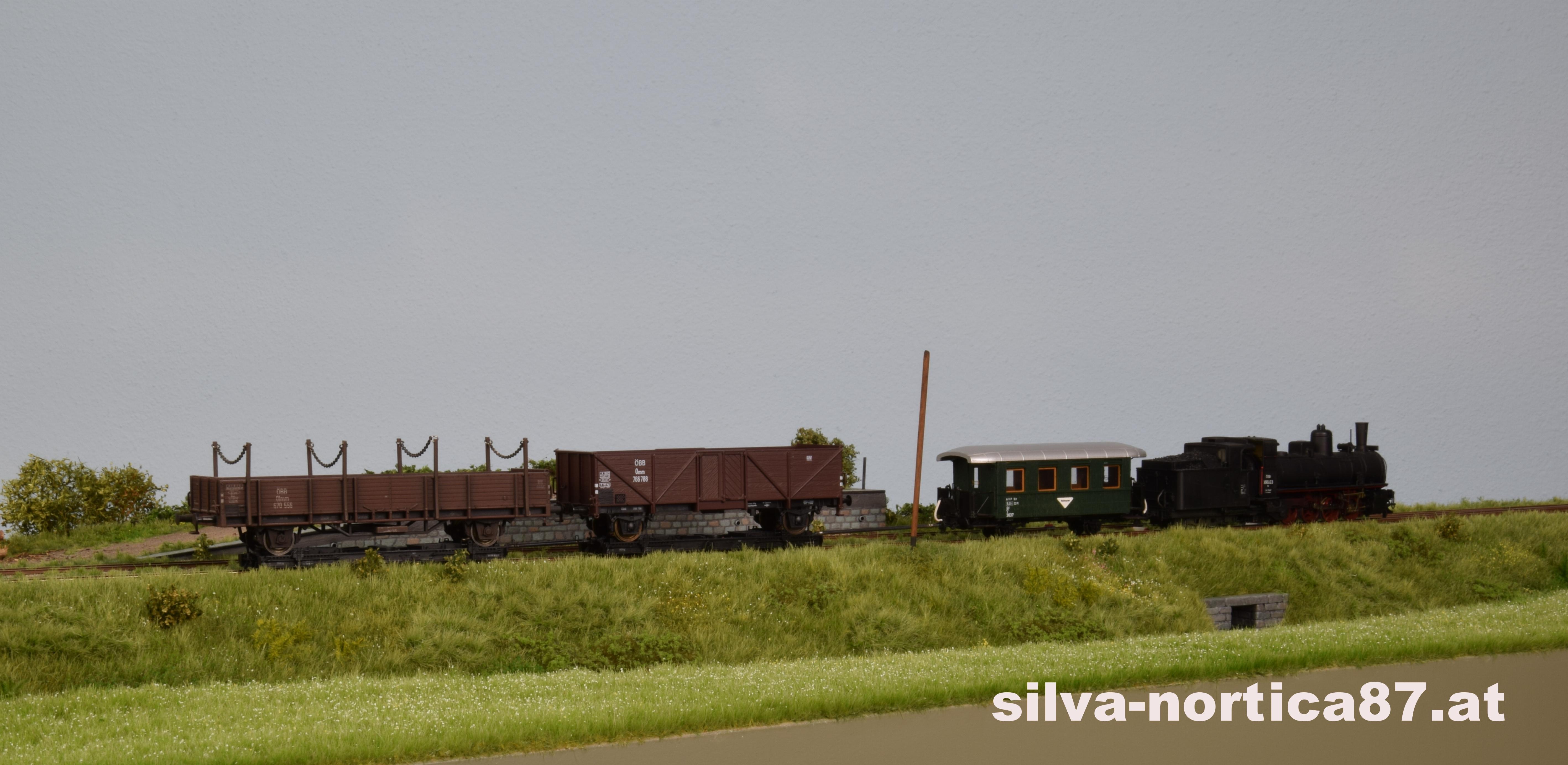 Schmalspur Modul Alt Weitra 1958 Güterzug