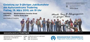 Einladung - 5 Jahre Kulturzentrum Trudering