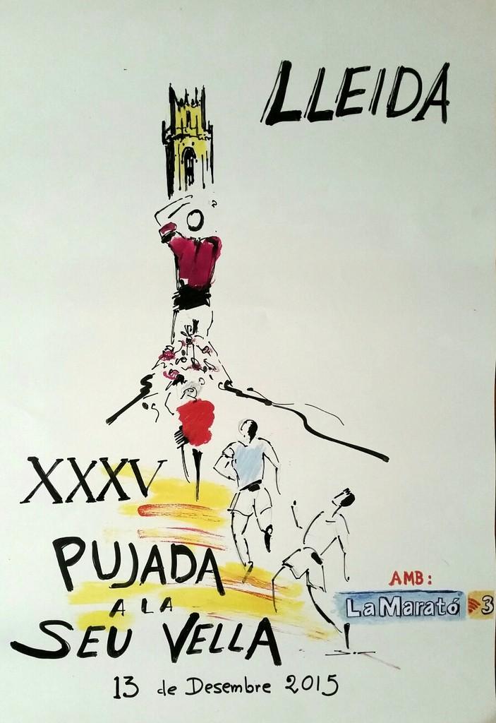 El pintor lleidatà Josep Mª Batlle, ha col·laborat amb el cartell anunciador de la XXXV Pujada a la Seu Vella.