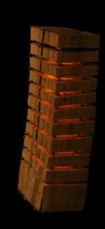lampe bois sapin brut extéreur