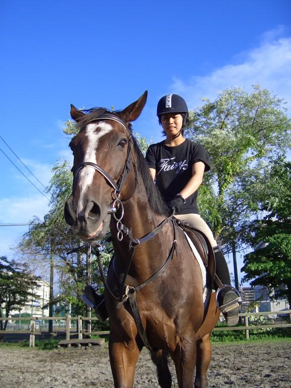 2005年  馬場にて メイセイ&なっちゃん