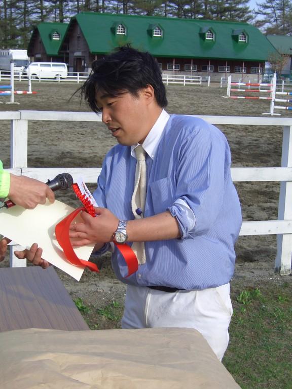 入賞大原さん 2005年 ポニー大会