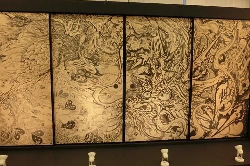 村林由黄さん龍の襖絵