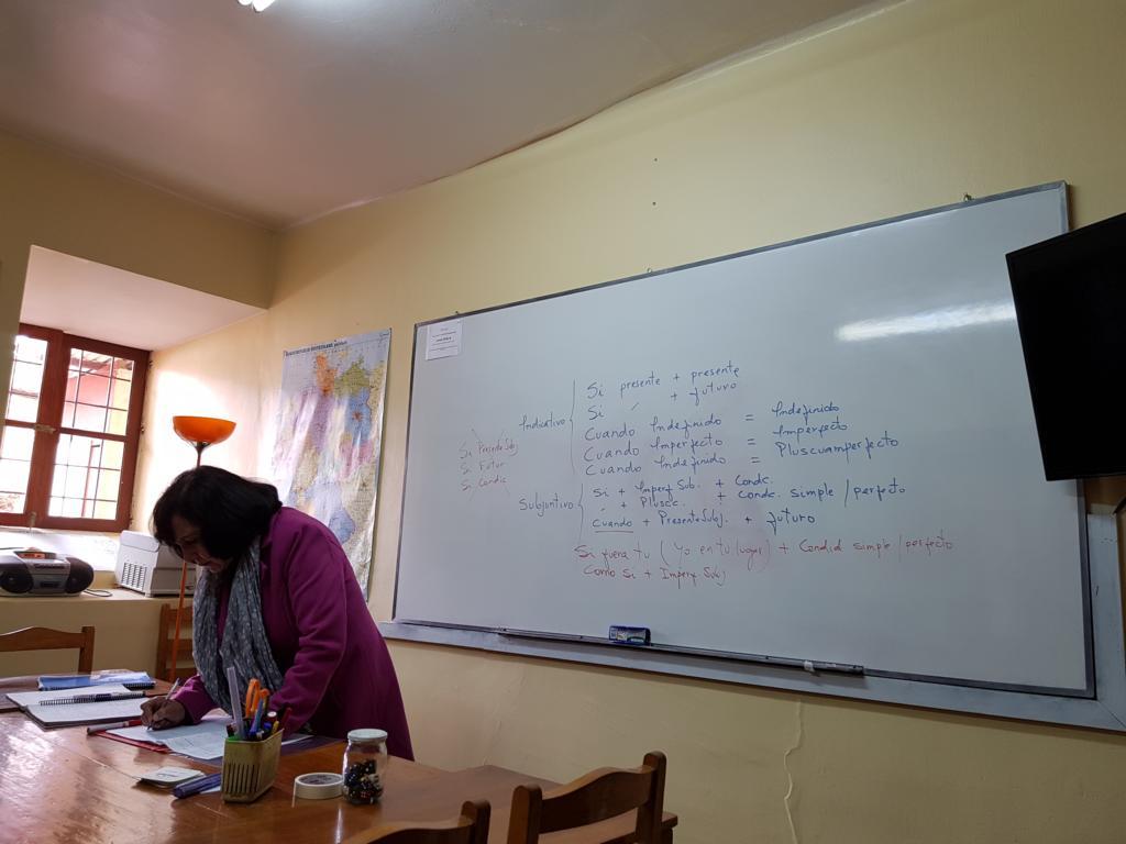 """Eine unserer Spanisch-Lehrerinnen heißt """"Mauge"""", das ist die Kurzversion von Maria Eugenia."""