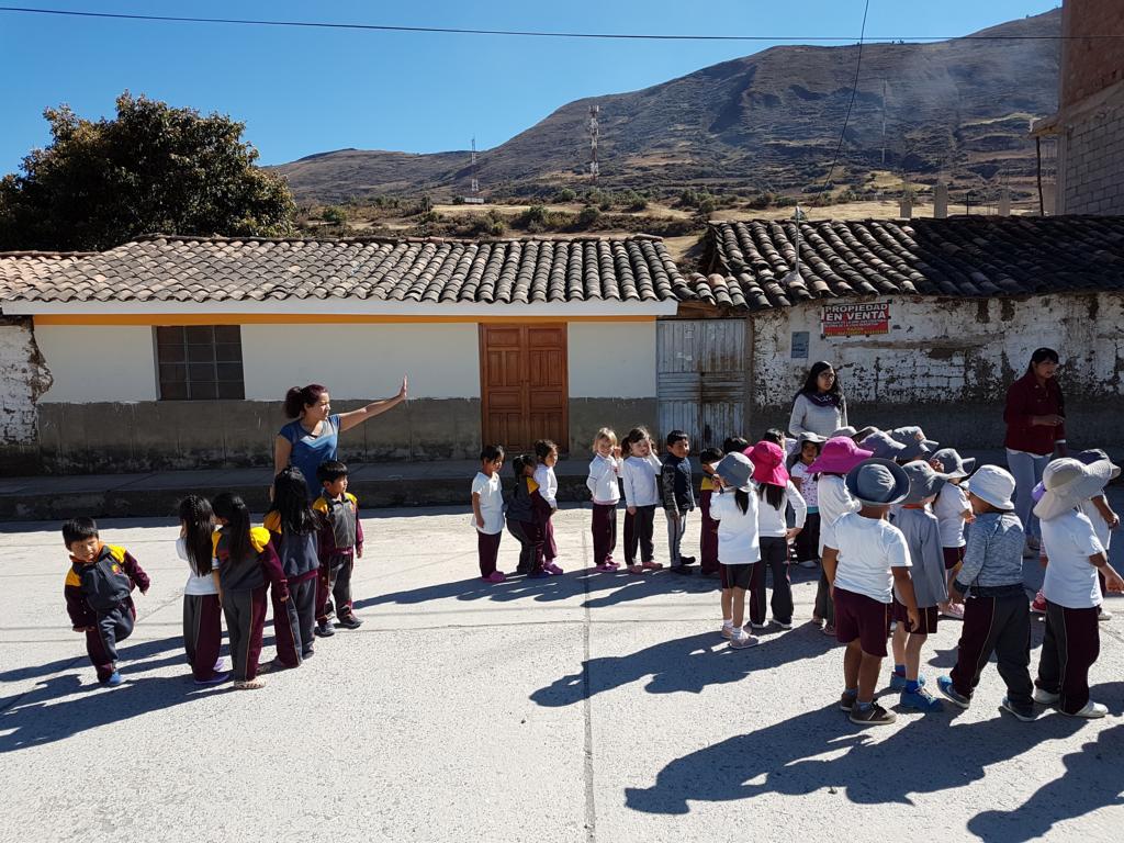 ... und auch die Kinder aus dem Kindergarten üben in den Tagen vorher.