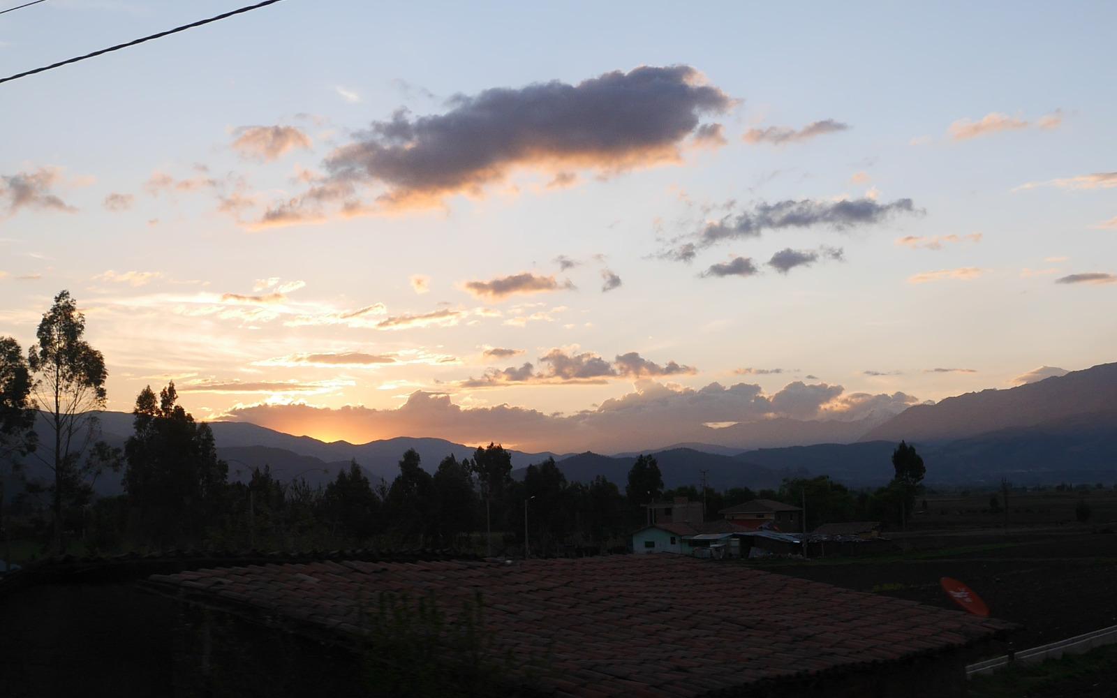 Auf der Rückfahrt von Cusco nach Curahuasi.