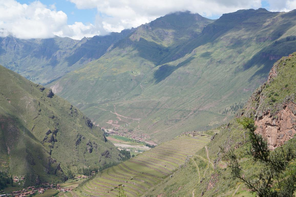 Beautiful landscape. In Pisaq there are terraces from the Inca period.