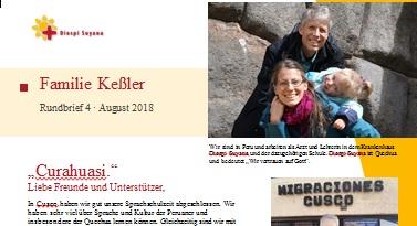 Familie Keßler in Curahuasi bei Diospi Suyana Rundbrief August 2018