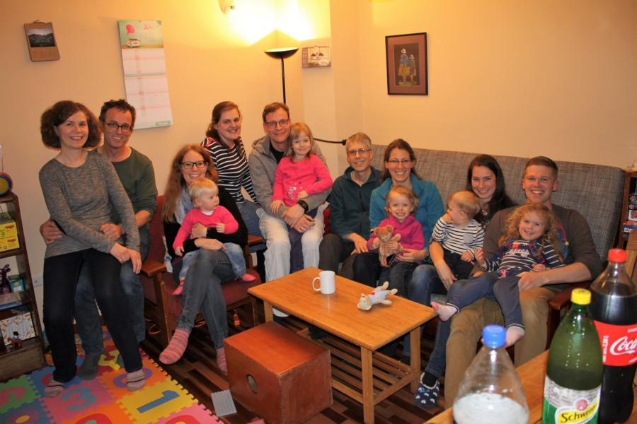 Total well-lived hospitality! With three other German missionary families. Johanna is happy about children in their age.