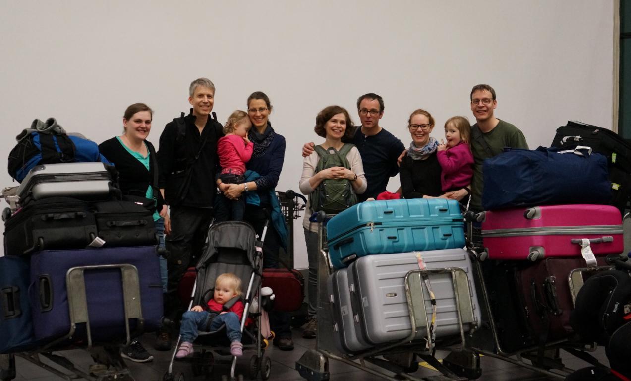 Ankunft in Lima gemeinsam mit anderen Diospi Suyana Mitarbeitern.