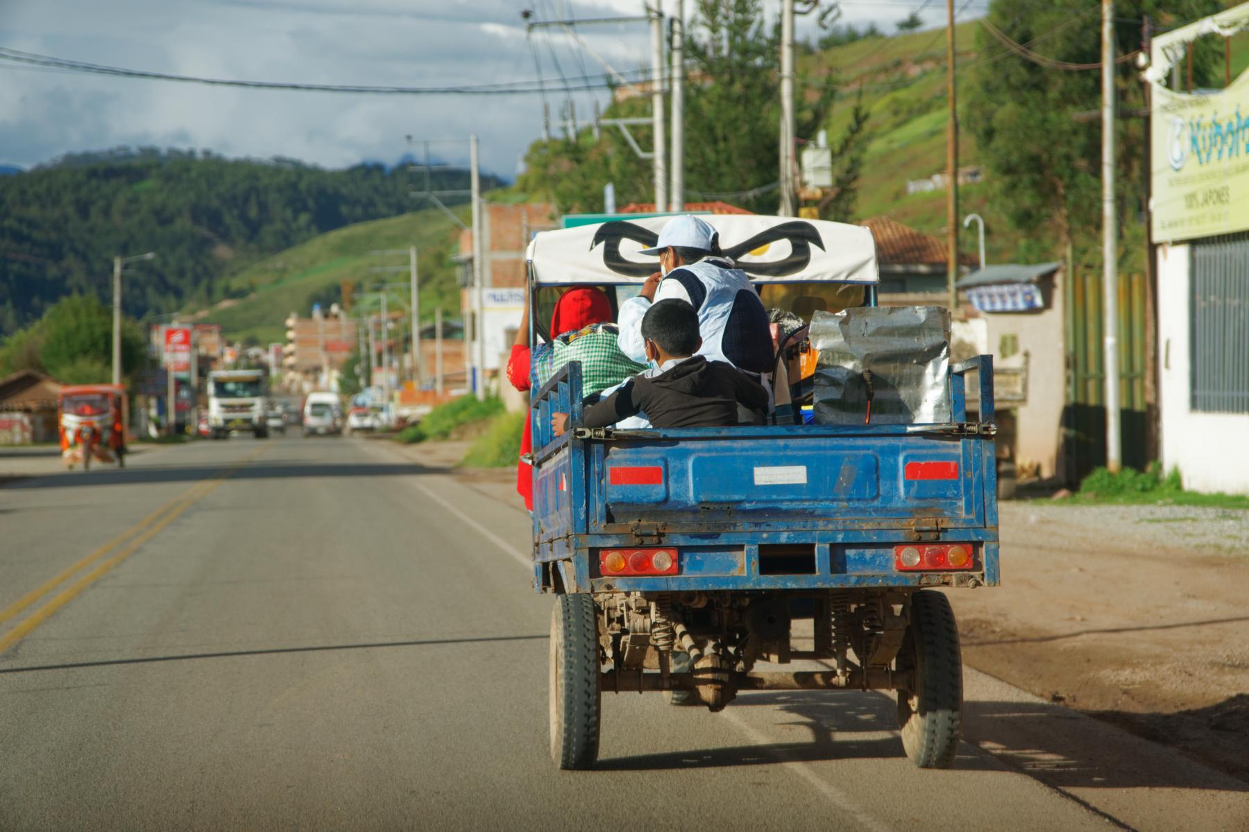Beliebtes und günstiges Transportmittel: Mototaxi.