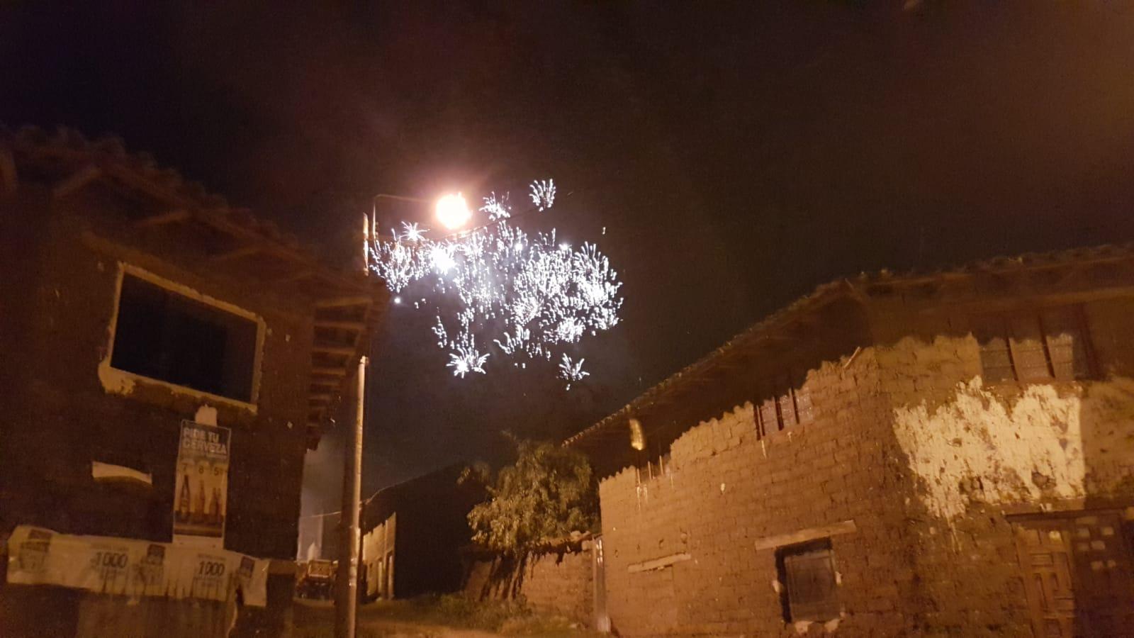 ... auch in Curahuasi gab es ein Feuerwerk.