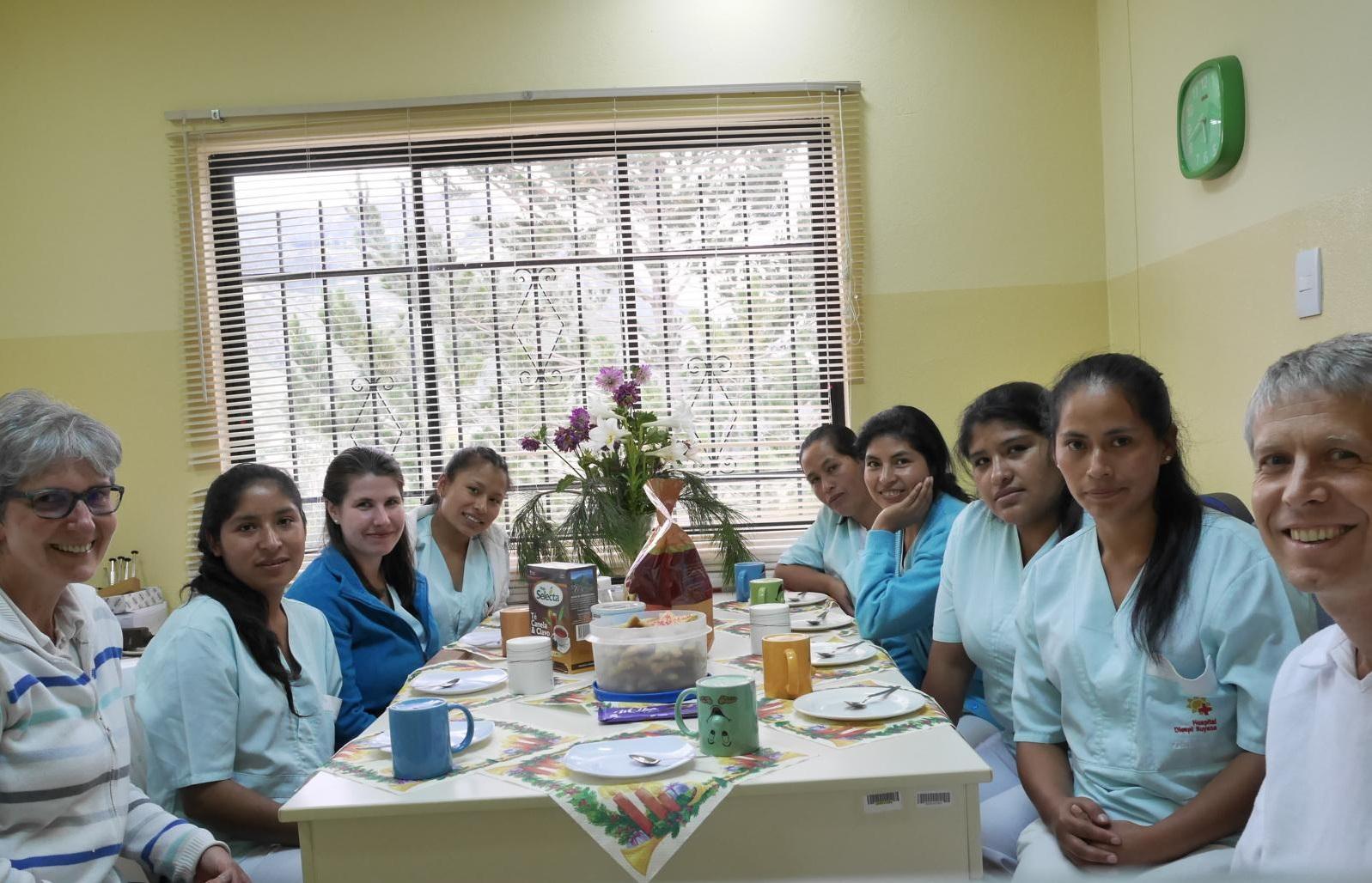 Weihnachtsfeier mit dem Team der Augenklinik.