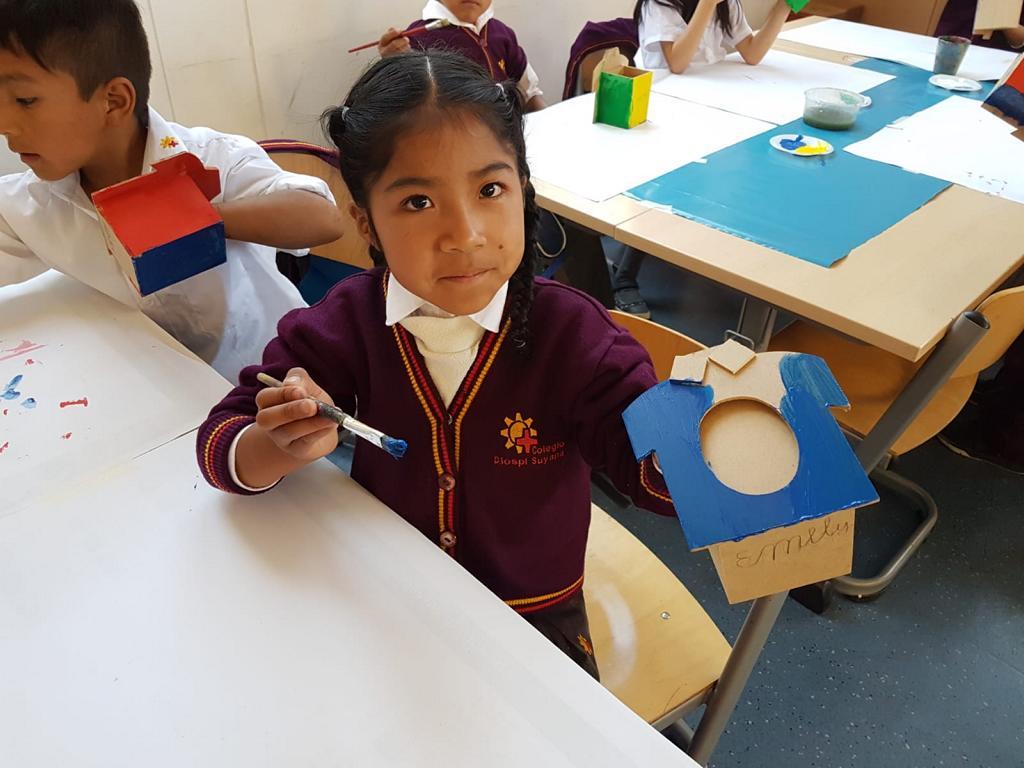 Unter anderem haben die Schüler kleine Geschenke für ihre Väter hergestellt.