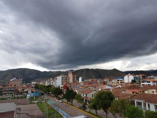 Sommerzeit = Regenzeit in Cuzco.