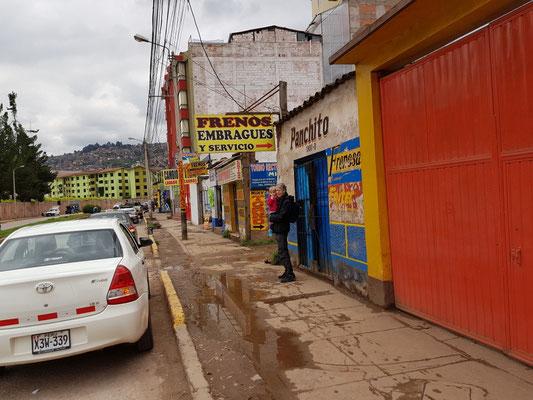 Unterwegs in Cuzco.