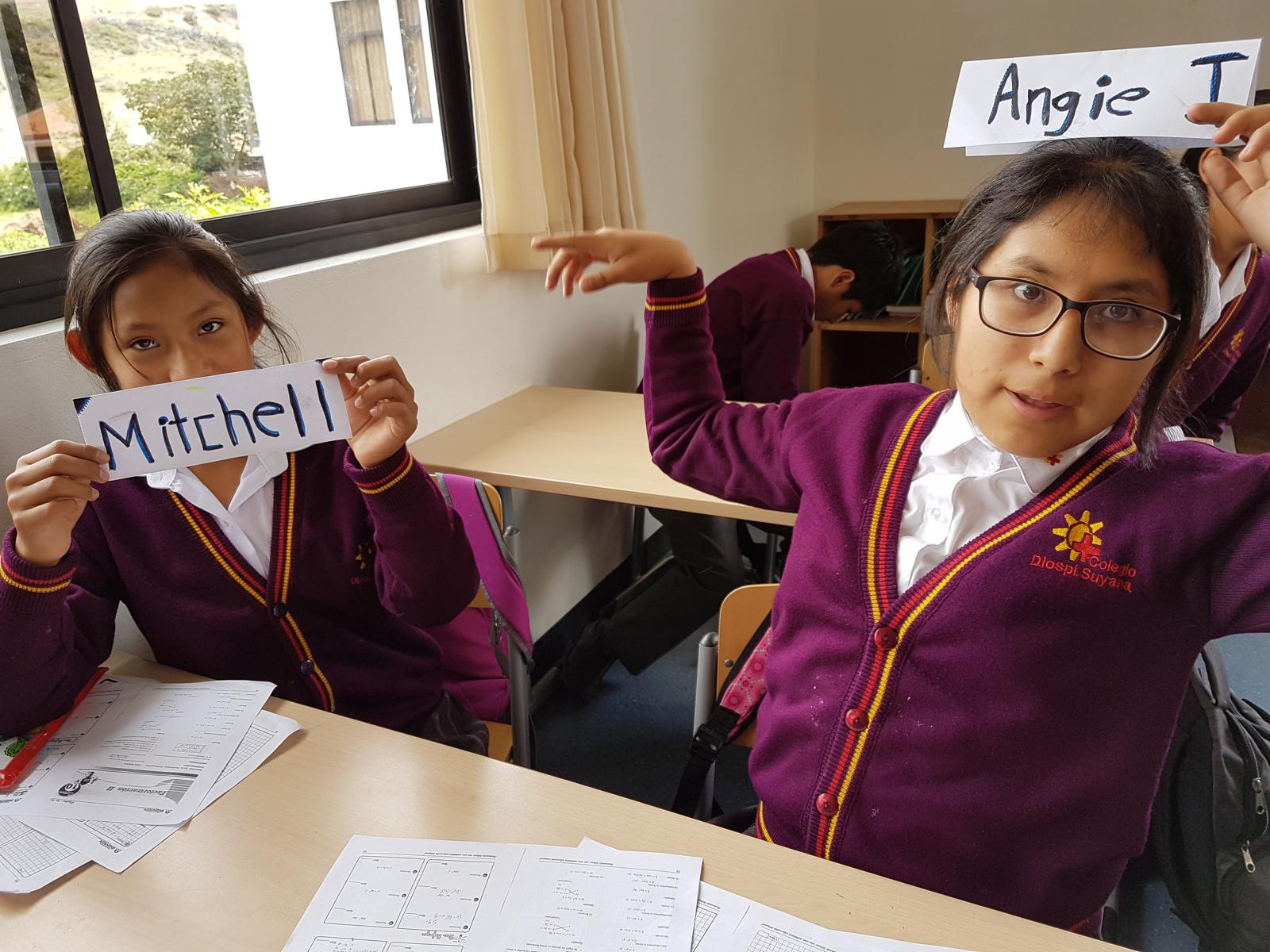 Schüler aus dem Matheunterricht.