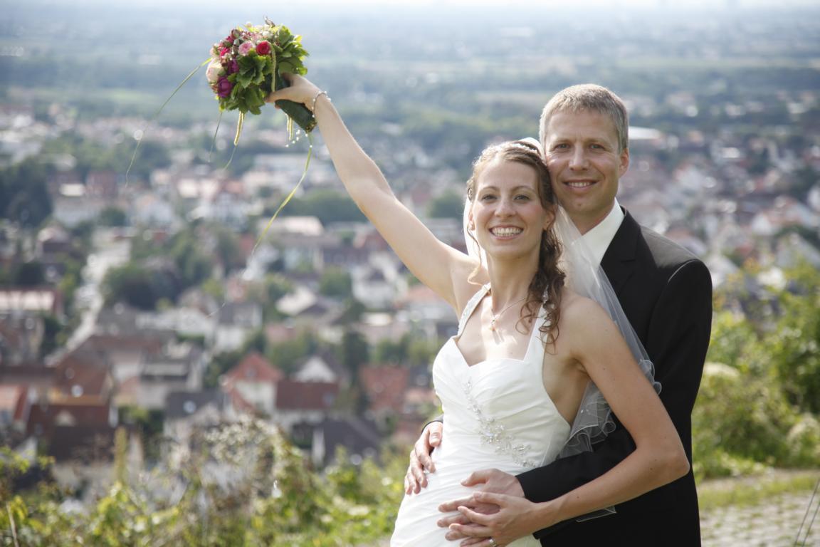In Schriesheim bei Heidelberg haben wir geheiratet.