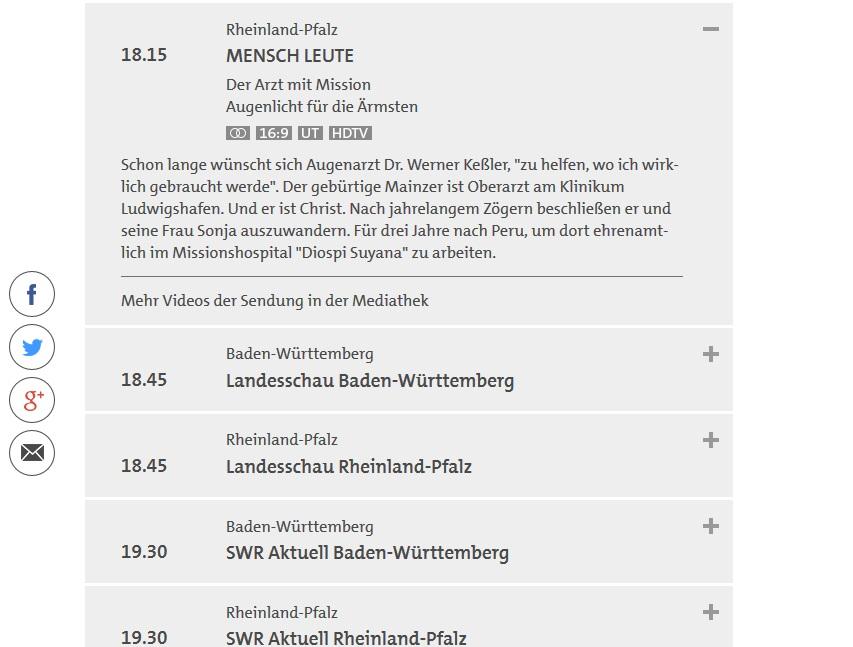 ... um 18:15 Uhr und bei Rheinland-Pfalz auch eine kurze Beschreibung.