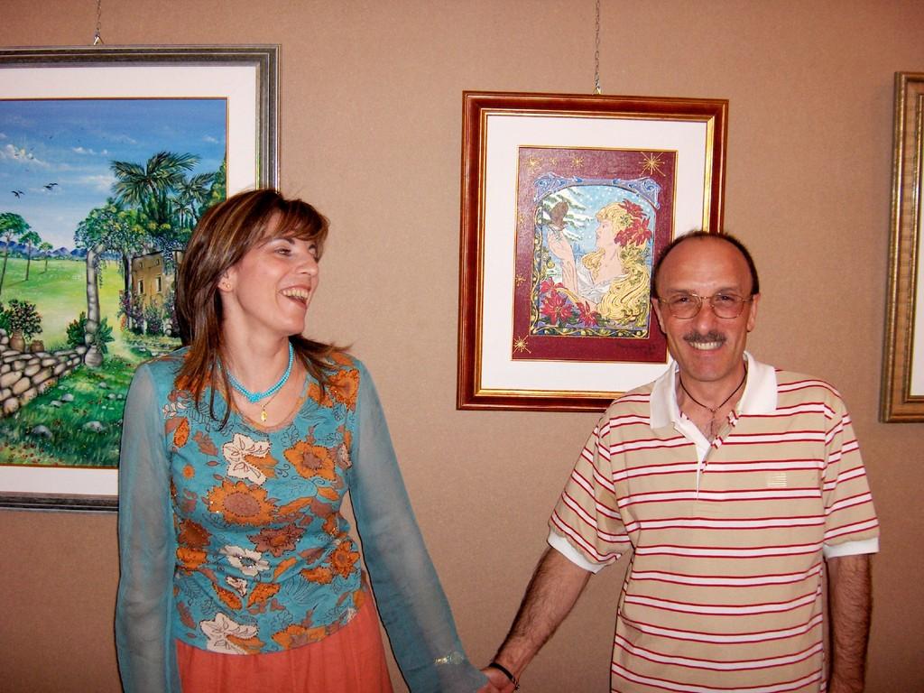 Io e l'amico pittore Filippo Mazzei