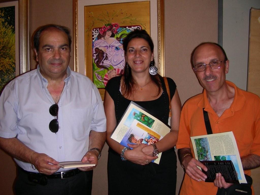 da sx il maestro Luigi Greco, io e l'amico pittore Filippo Mazzei