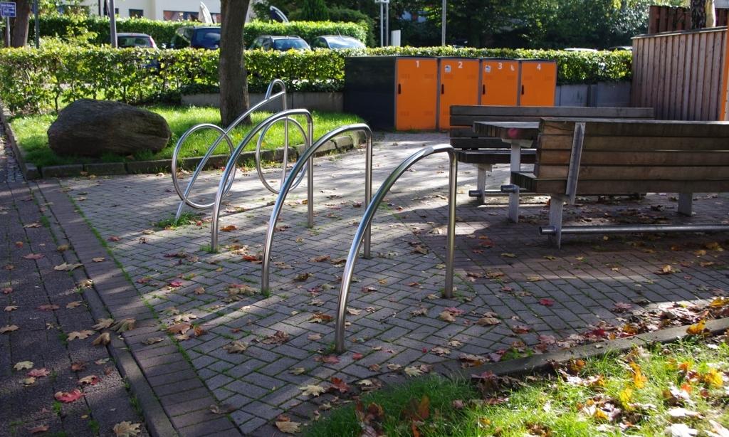 Moderne Fahrradständer