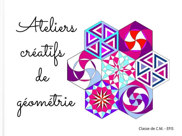 Ateliers créatifs de géométrie