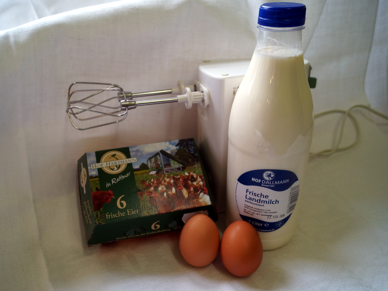 Eierstich: natürlich aus unseren Eiern und Dallmanns Milch!