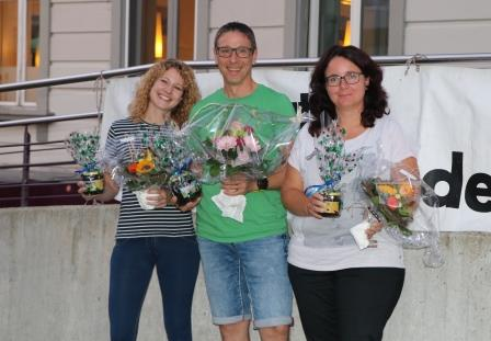 v.l.n.r. Michelle Galliker, Erich Fuchs, Andrea Stalder