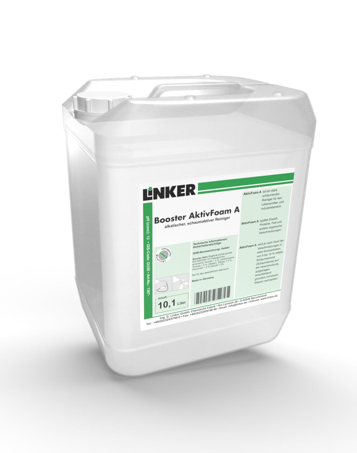 Booster AktivFoam A_Linker Chemie-Group, Großküchenreinigung, Entfettungsmittel