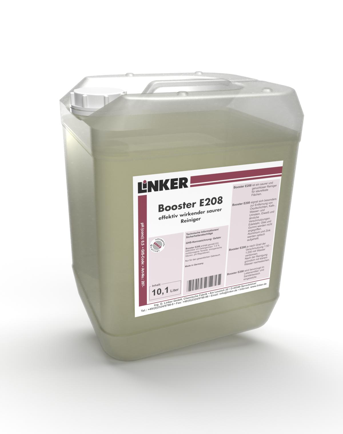 Booster E208_Linker Chemie-Group, entfernen von Kalkablagerungen