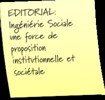 Ingénierie sociale - force de proposition