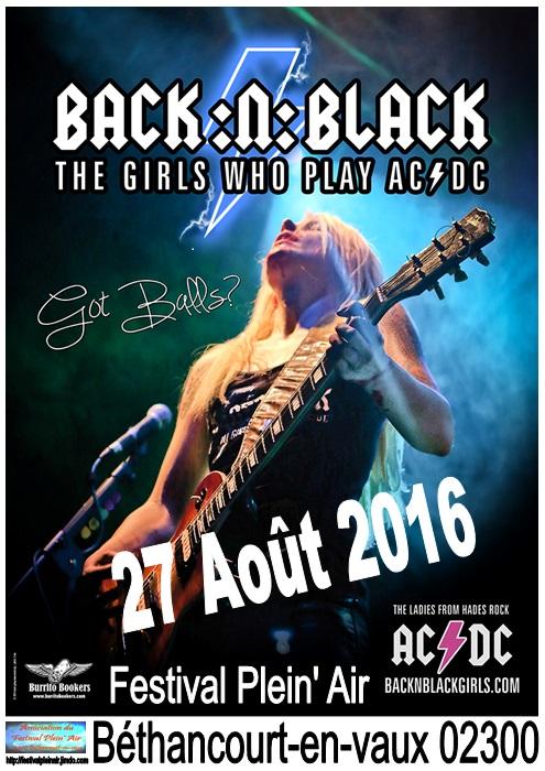 BACK:N:BLACK , Tête d'affiche 2016.